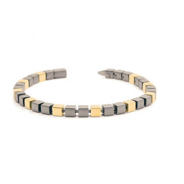 Bracelet Titane maillon cube