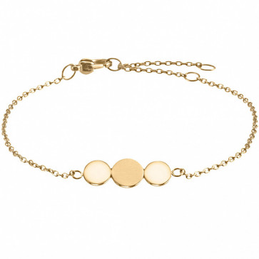 Bracelet pastille dorées