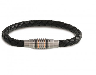 Bracelet Cuir et Titane homme