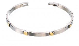 Bracelet titane et or