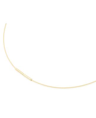 Collier cable acier plaqué Or
