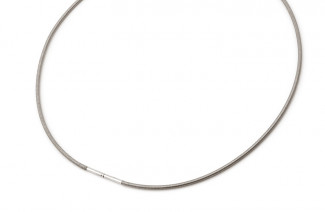 Collier cable Titane