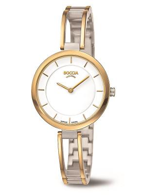 Bracelet montre dame Titane doré