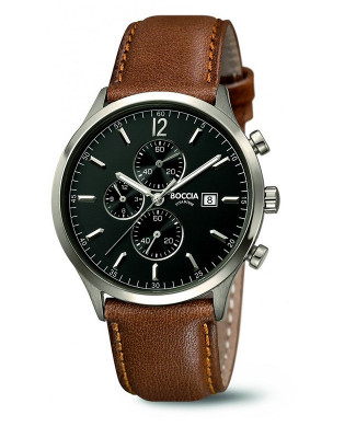 Montre chrono Cuir marron