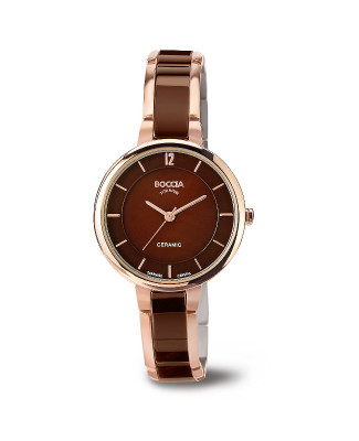 Montre céramique marron