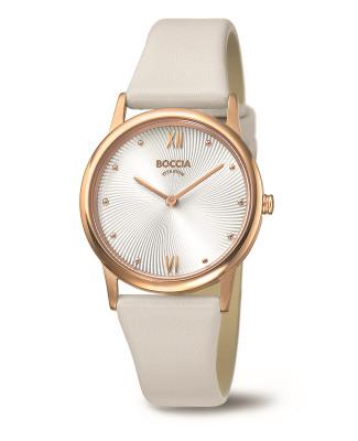 montre dame Boccia sur cuir beige