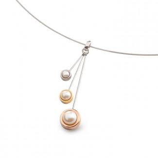 Pendentif perles 3 couleurs
